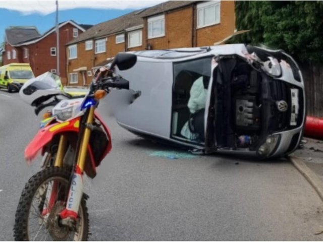 Officers from the Leeds District off-road bike team were in the LS14 area dealing with the crash.