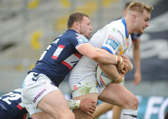 Leeds Rhinos Alex Sutcliffe in action against Wakefield Trinity. Picture: Steve Riding.
