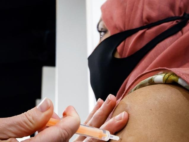 The NHS has claimed more than 74 percent of people in their 30s have had the Covid-19 jab.