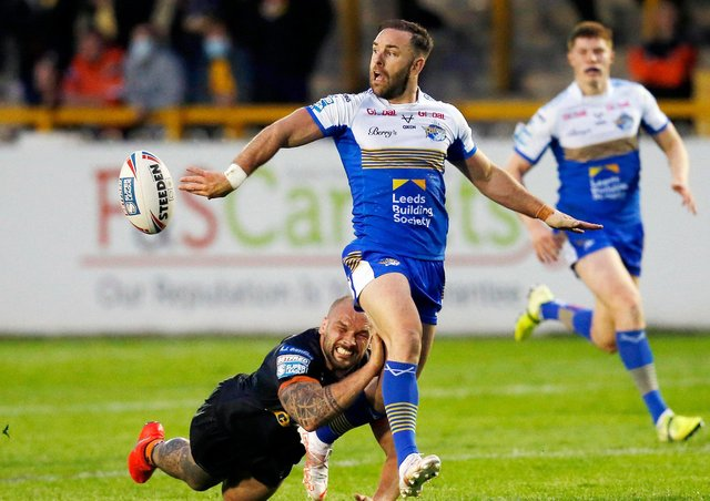 Leeds Rhinos' Luke Gale is in contention to play for England at this autumn's World Cup. Picture: Ed Sykes/SWpix.com.