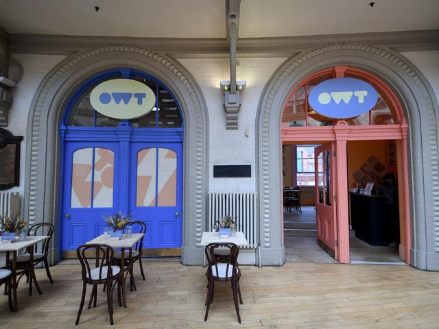 Outside of Owt in Leeds Corn Exchange. Picture: Simon Hulme.