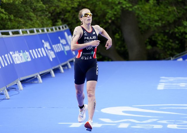 Great Britain's Jessica Learmonth finishes second in The AJ Bell 2021 World Triathlon Championship Series Women's Race (Picture: Martin Rickett/PA Wire)