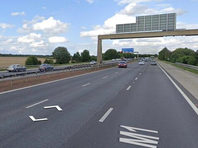 The M1 motorway stock image