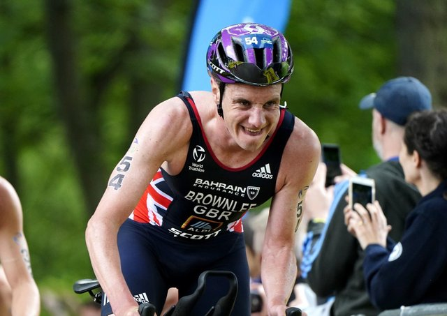 Great Britain's Alistair Brownlee in action during The AJ Bell 2021 World Triathlon Championship Series Mens Race (Picture: Martin Rickett/PA Wire)