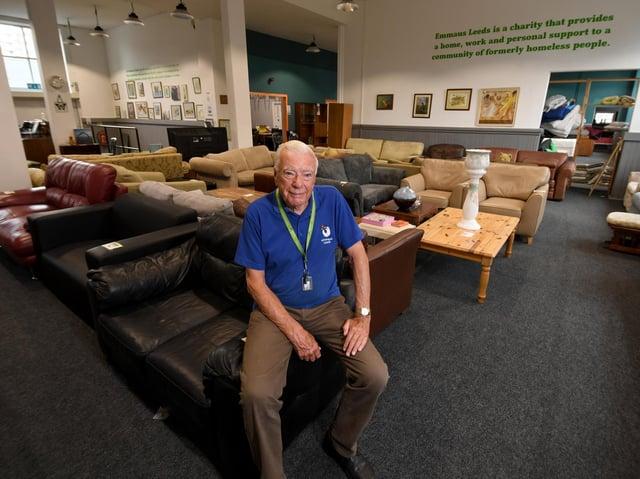 Volunteer Peter Talbot at Emmaus.
