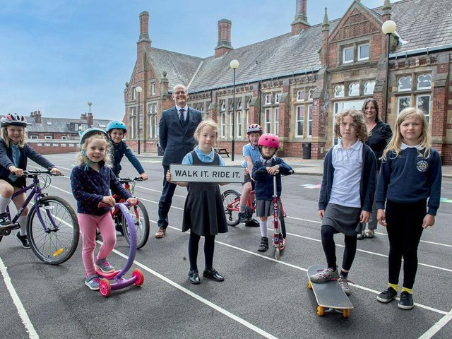 Chapel Allerton School is supporting the Walk it Ride it campaign.