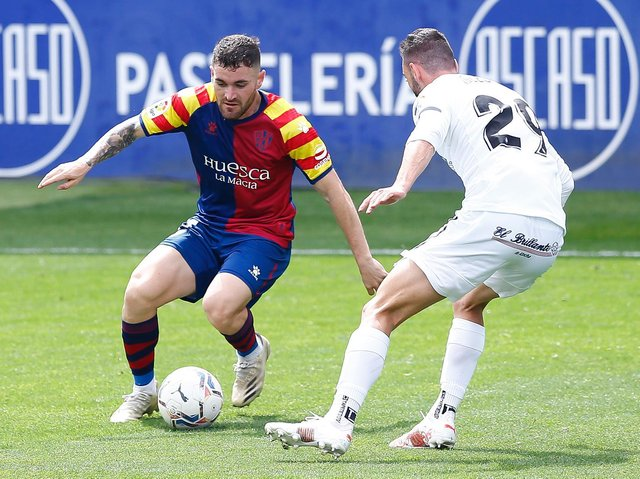 GOOD FIT - Javi Galan of recently relegated Huesca is a player whose name pops up repeatedly in a search for a potential new Leeds United left-back. Pic: Getty