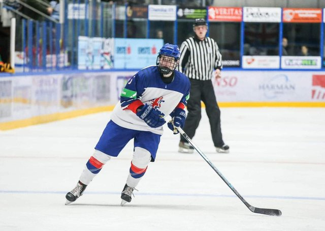 Jordan Griffin, pictured in action for GB Under-18s in Hungary in 2019. Picture courtesy of Andy Bourke/Podium Prints.