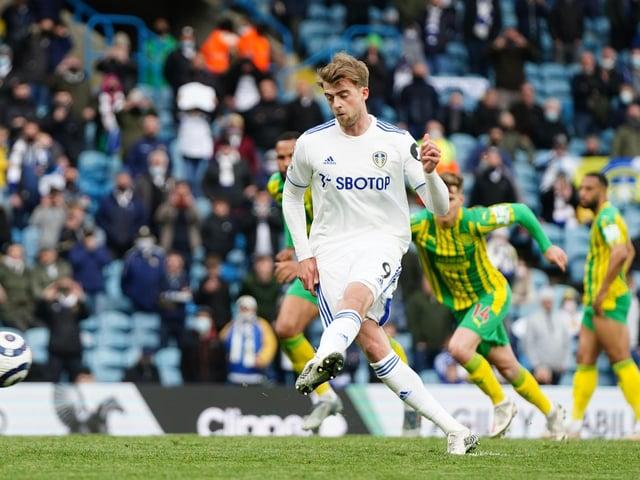 FINE SEASON: For Leeds United striker Patrick Bamford. Photo by Jon Super - Pool/Getty Images.
