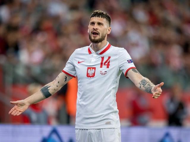 ON THE BENCH: Leeds United's Polish international midfielder Mateusz Klich. Photo by Thomas Eisenhuth/Getty Images.