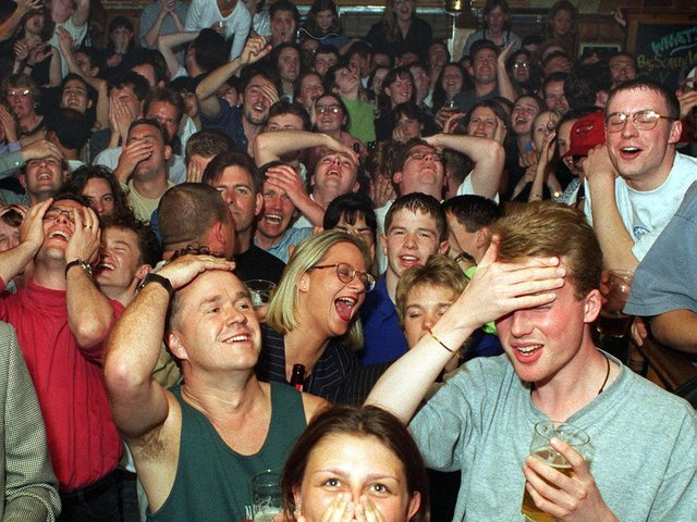 Enjoy these photo memories showcasing how Leeds embraced the spirit of Euro 96. PIC: Peter Thacker