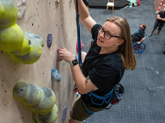 Lucy Keyworth has found an unlikely passion that she's determined to share with others: the sport of paraclimbing.