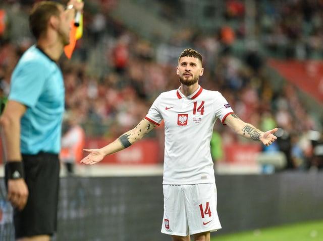 Leeds United midfielder Mateusz Klich in action for Poland. Pic: Getty