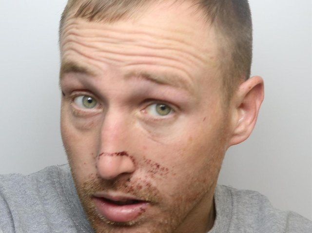 Ryan Gledhill was jailed for nine years for robbing an elderly woman in her own home in Wakefield