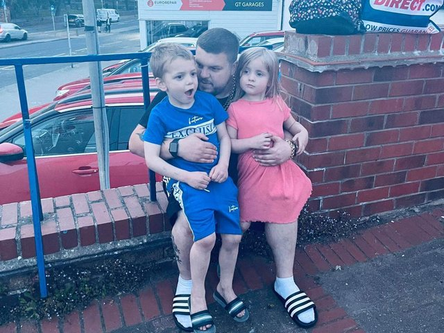 Adam Newby, his partner and three young children were stranded in a Scarborough car park for eight hours