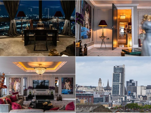 This magnificent Bridgewater Place penthouse is on the market with Knight Frank.