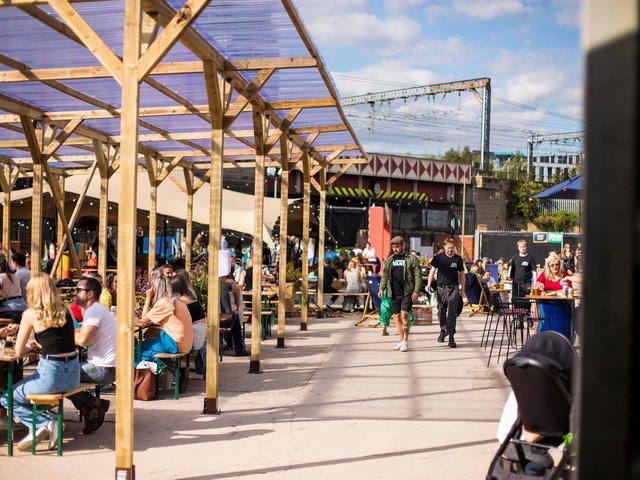 Chow Down in Temple Arches is open for eating, drinking, socialising and music this weekend