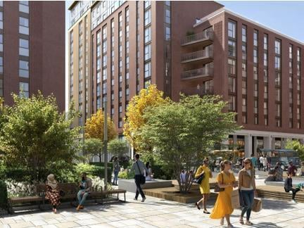 An artist's impression of the flats.