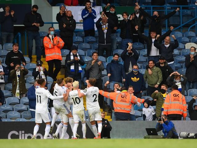 Leeds United celebrate at Elland Road. Pic: Getty