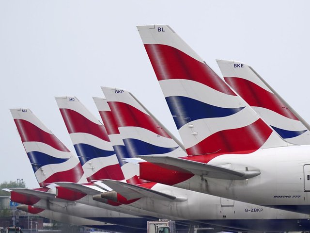 File photo  of British Airways planes at Heathrow Airport