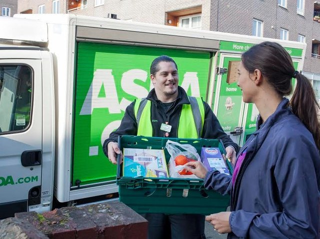 Asda customers continued to embrace online shopping