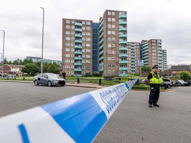 Detectives are investigating an incident in Leeds where a male was seen being chased and a blank firing gun was discharged.