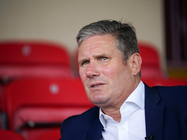 Labour leader Sir Keir Starmer on a visit to Batley today (Thursday). Photo: Getty Images