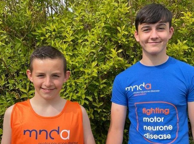 Preston Meloy, 12 and Ben Pearce, 14, are running a half marathon for the Motor Neurone Disease Association after being inspired by Rob Burrow's BBC documentary.