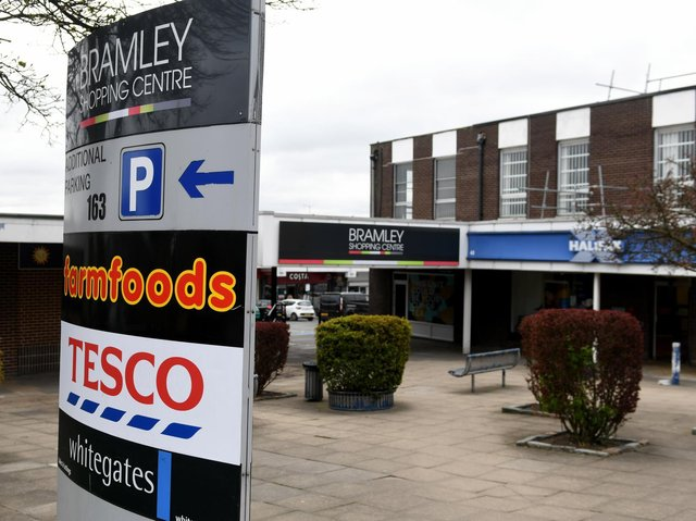 Public benches have been removed from the Bramley Shopping Centre this week.