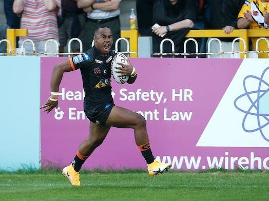 Teenager Jason Qareqare scored with his first touch in Super League. Picture by Ed Sykes/SWpix.com.