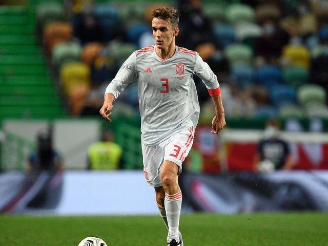 Leeds United defender Diego Llorente in action for Spain. Pic: Getty