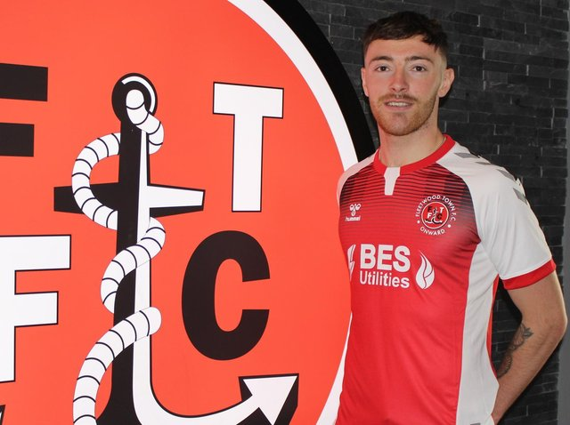 NEW HOME - Ryan Edmondson has moved to Fleetwood Town on loan from Leeds United for the season. Pic: Fleetwood Town FC