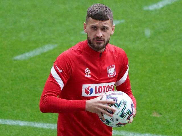 Leeds United's Poland international midfielder Mateusz Klich. Photo by JANEK SKARZYNSKI/AFP via Getty Images.