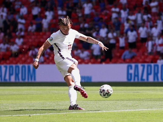 Leeds United midfielder Kalvin Phillips in action for England. Pic: Getty