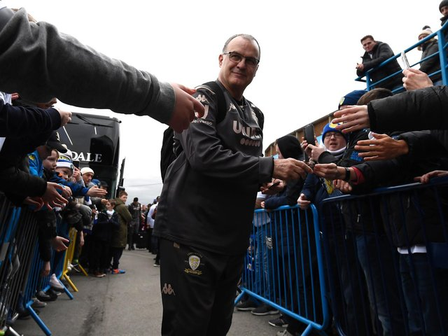 BIELSA DAY - Three years ago today Leeds United appointed Marcelo Bielsa as their head coach, starting a love affair between the Argentine and the club's fans. Pic: Getty
