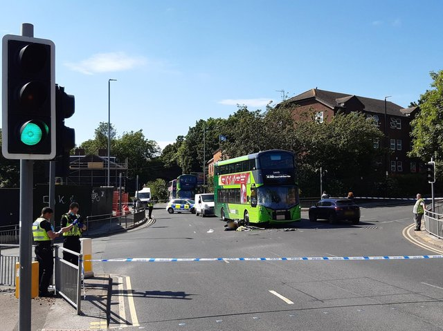 The scene of the crash at the junction of Cardigan Road and Burley Road