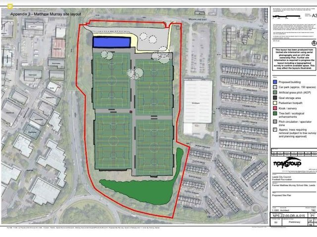 NEW PROPOSAL - Leeds United have proposed that instead of buying the Matthew Murray site to build a new training ground, the planned Parklife initiative moves to the site from Fullerton Park. Pic: Leeds Council.