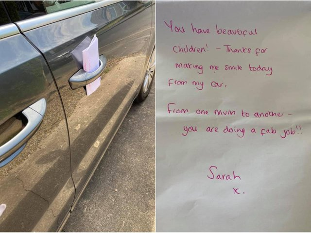 Genevieve Spark returned to her car on Tuesday (June 15) to discover the note having had a tough morning.