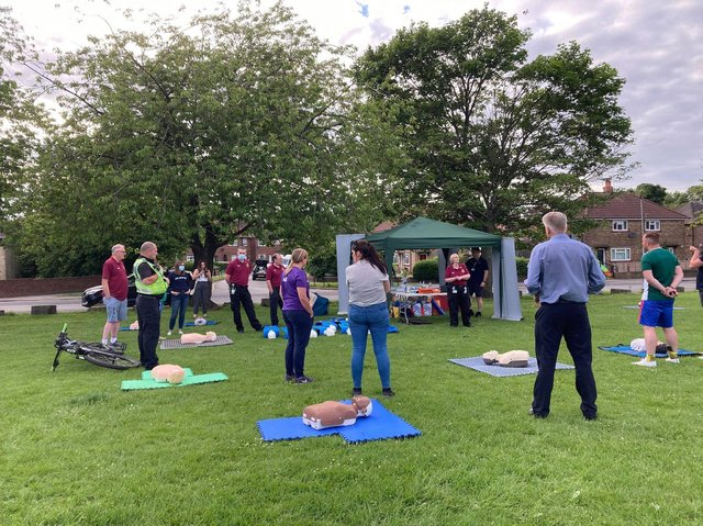 Pudsey councillor Simon Seary organised a first aid CPR and defibrillator familiarisation training session for all coaches to attend on Tuesday (June 15). cc Dawn Seary