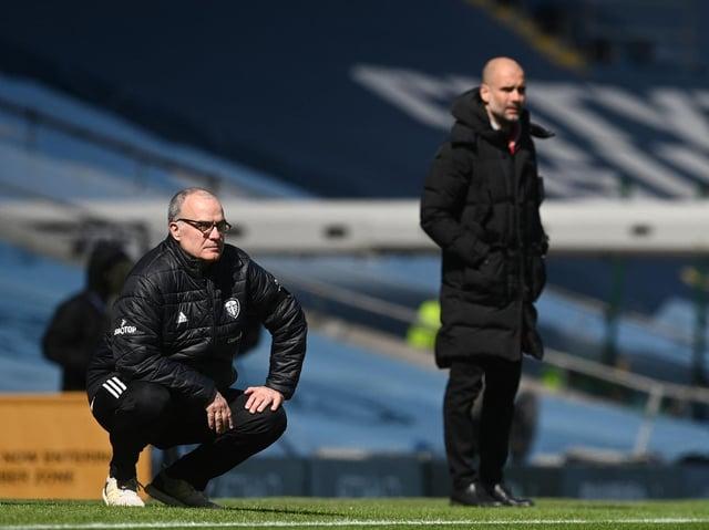 STUBBORN TEST - Pep Guardiola's Premier League winning Manchester City side failed to beat Leeds United last season. Pic: Getty