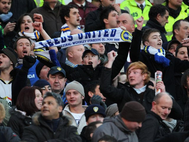MEMORABLE OUTING - Leeds United fans hope to return to Old Trafford when their side visit Manchester United on the opening day of the Premier League season. Pic: Getty