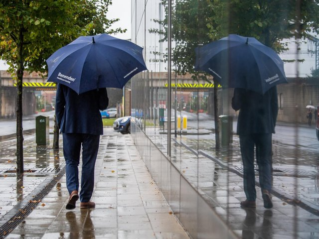 The rain in Leeds will not be as bad as first forecast.