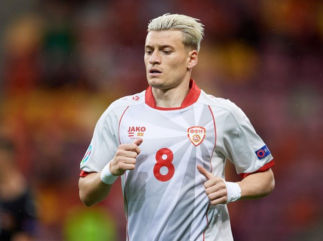 Leeds United's Gjanni Alioski aiming to make history with North Macedonia at the Euros. Pic: Getty