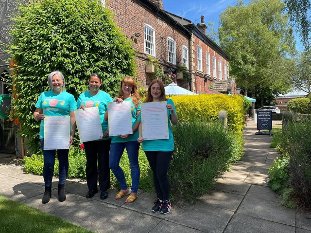 From L-R Nina Britton, 35, Leanne Aldwin, 37, Katy Winship, 35 and Carys Barker, 33
