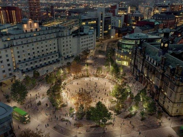 An artist's impression of the plans for city square.