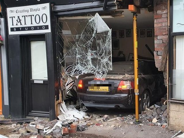 The crash caused significant damage to the shop