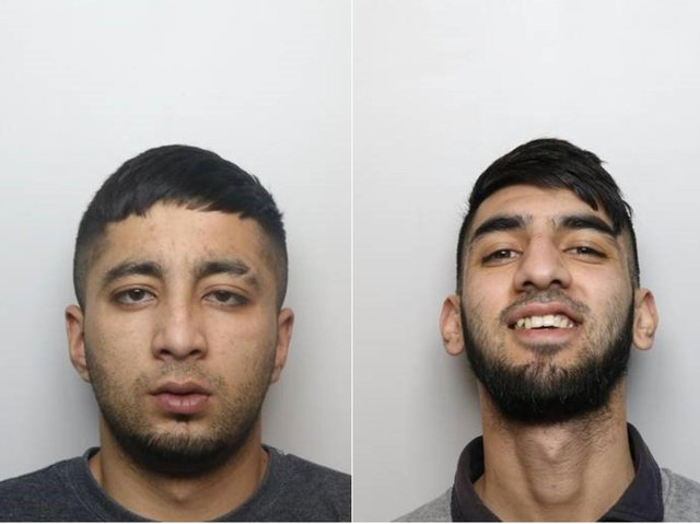 Zeshaam Khan (left) and Khawaar Awan were given extended jailed sentences for attempted murder after shots were fired at a house in Pudsey.
