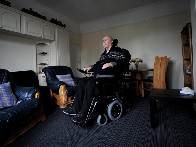 Paul Lamb pictured at his home at Swinnow, Pudsey, in May 2019.