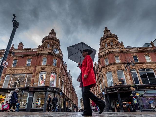Rain in Leeds.