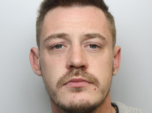 Nathan Christie was jailed for 21 months for attacking a woman with a glass and punching a man during violence at a pub in Hunslet.